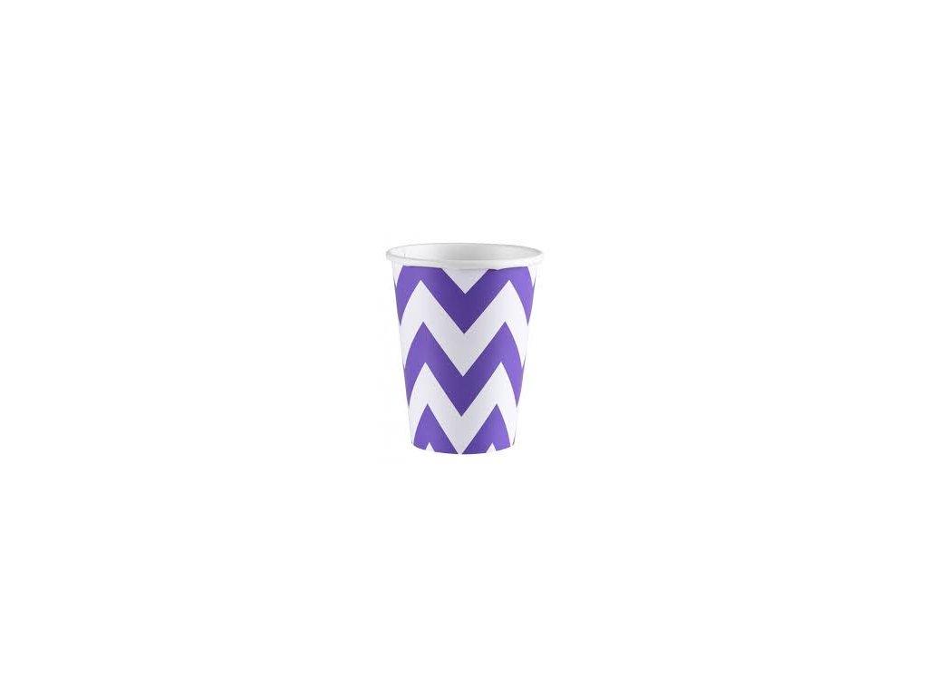 Kelímky fialové 8 ks