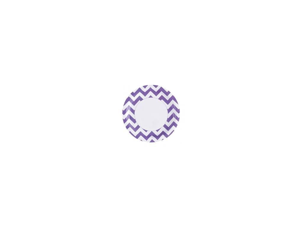 Talíře fialové 8 ks