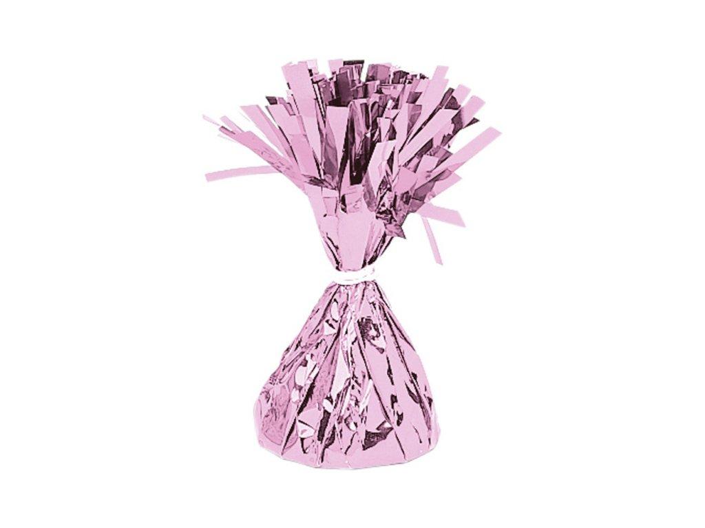 Fóliové závaží na balónky růžové
