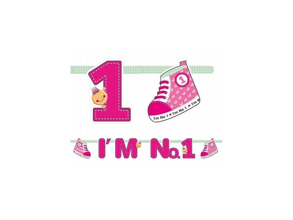 Banner Jsem číslo 1 - růžový