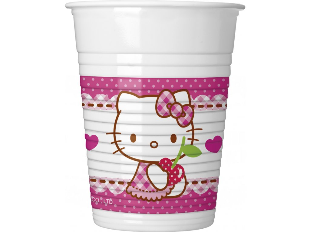 HELLO KITTY HEARTS PLASTIC CUP ICON