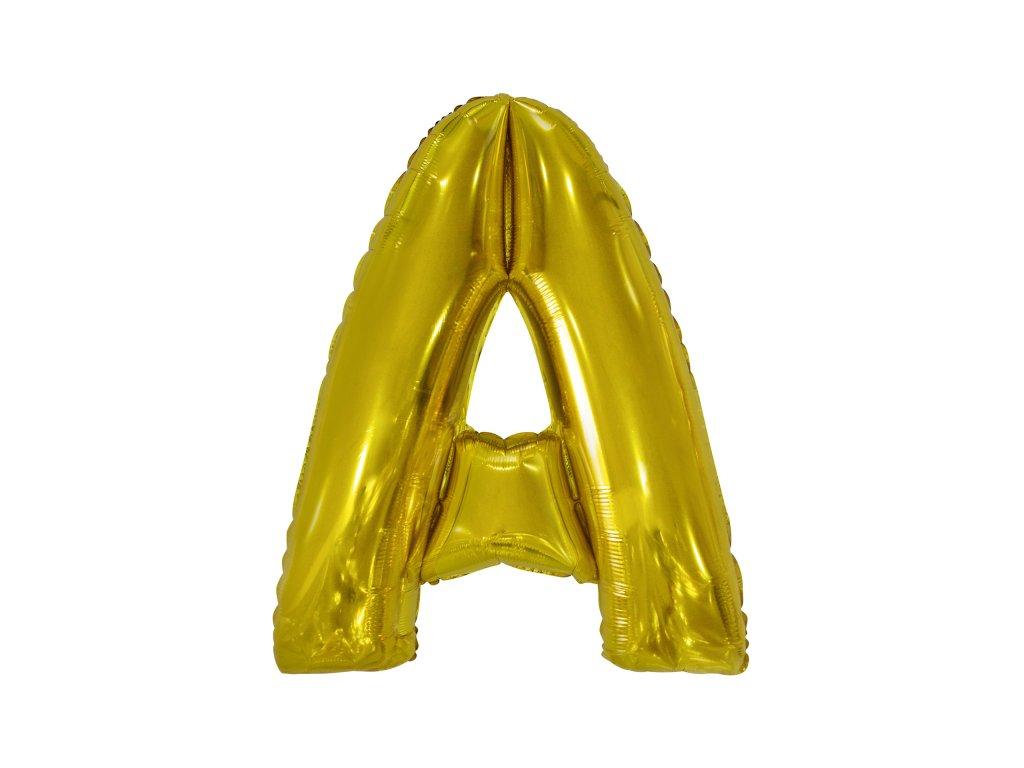 Fóliový balónek písmeno A 86 cm zlatý