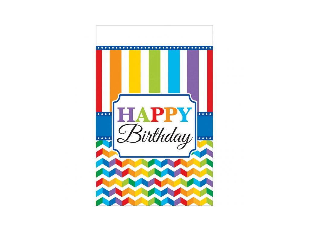 Ubrus barevné narozeniny 137 x 259 cm