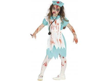 Dětský kostým Zombie zdravotní sestra