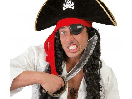 Piratsky mec a paska cez oko