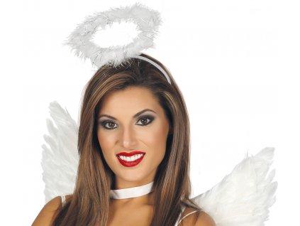 Čelenka Andělská Svatozář - bílá