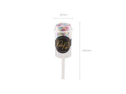 Malé vystřelovací konfety mix barev