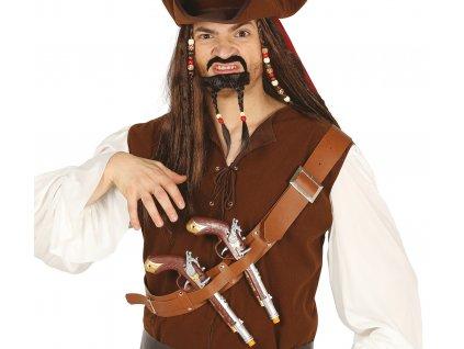 Pirátský pás se dvěma pistolemi