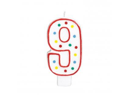 Velká narozeninová svíčka 9