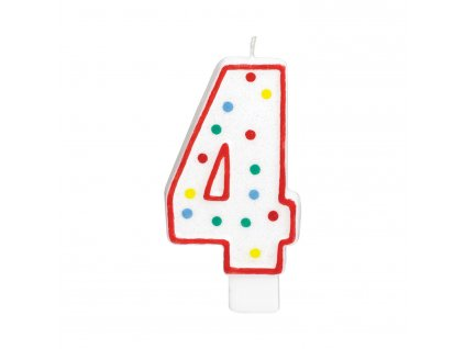 Velká narozeninová svíčka 4