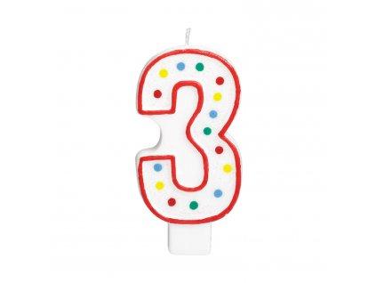 Velká narozeninová svíčka 3