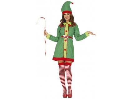 Dámský Kostým - Vánoční Elfka