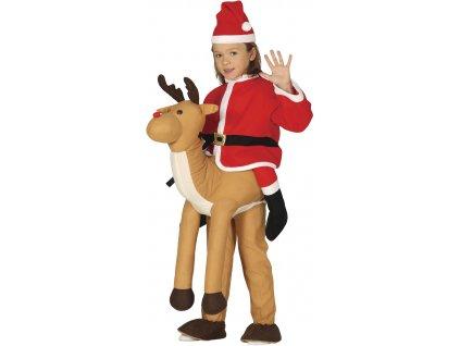Detský kostým - Mikuláš na sobovi (Velikost - děti M)