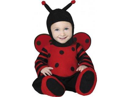 Detský kostým Lienky (Velikost nejmenší 6 - 12 měsíců )