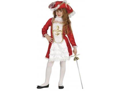 Detský kostým Mušketierky (Velikost - děti M)