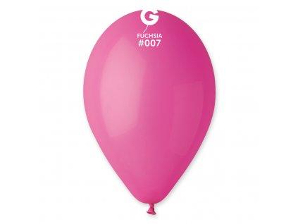 Balónek pastelový tmavě růžový 26 cm