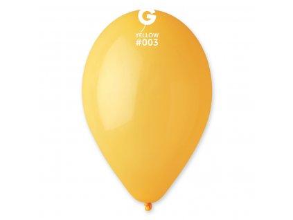 Balónek pastelový tmavě žlutý 26 cm