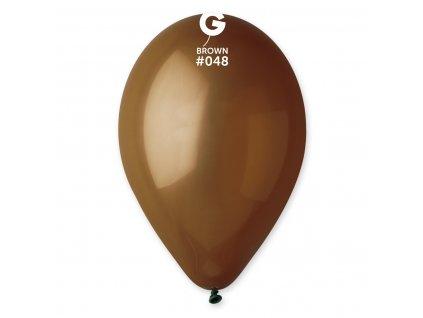 Balónek pastelový kakaově hnědý 26 cm