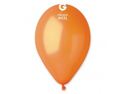 Balónek metalický oranžový 26 cm