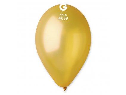 Balónek metalický zlatý 26 cm