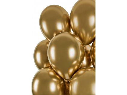Balónek chromový zlatý 33 cm