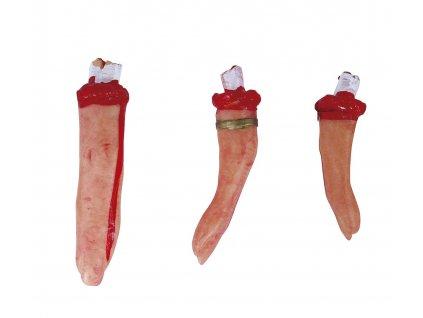 Amputované prsty 5 ks