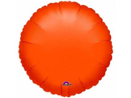 Fóliový balón - Metalický oranžový Kruh
