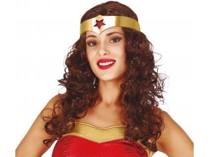 Paruka Wonder Woman s čelenkou