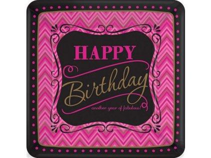 Talíře Happy Birthday  Born to be fabulous! 8 ks