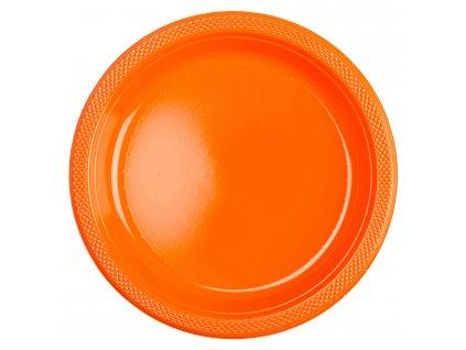 Plastové talíře - oranžové 10 ks