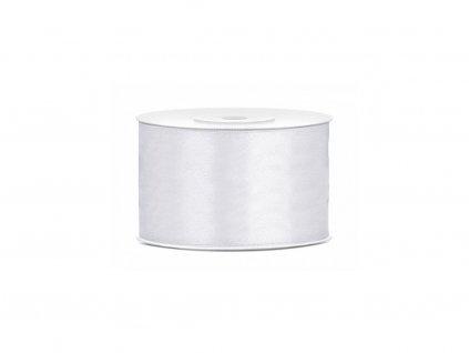 Saténová stuha - bílá 50 mm / 25 m