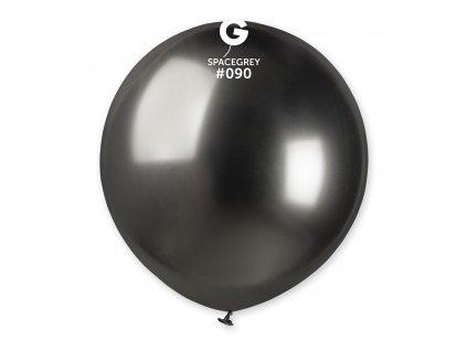 Balónek chromový šedý 48 cm