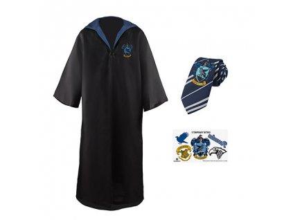 Sada plášť, kravata a 5 tetování Harry Potter - Havraspár