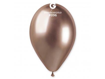 Balónek chromový růžovo-zlatý 30 cm
