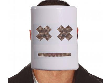 Bílá maska s křížky