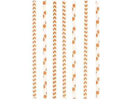 Slamky oranžové
