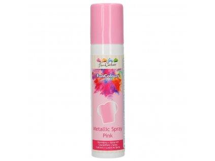 ružový jedlý sprej