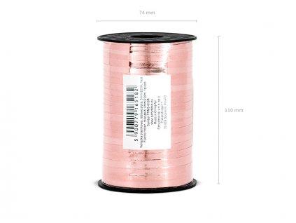 Stuha na balónky - růžovo zlatá 225 m