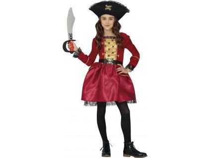 Detský kostým - Pirátka (Velikost - děti S)