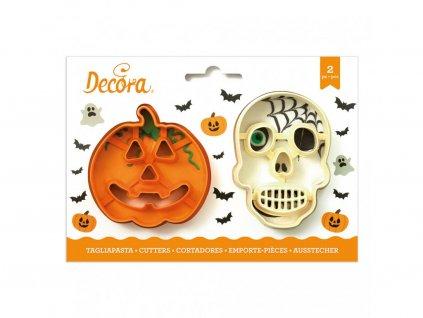 Sada halloweenských vykrajovátek - Dýně a lebka