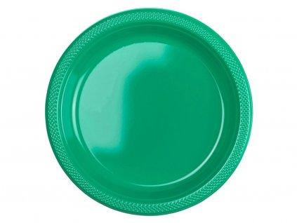 Plastové talíře - zelené 10 ks