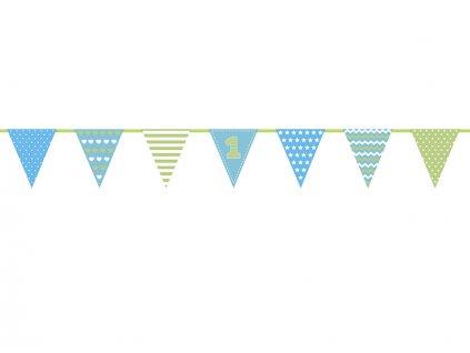 Girlanda první narozeniny - modrá