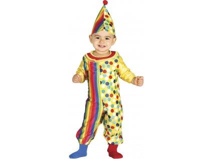 Kostým Klaun (Velikost nejmenší 6 - 12 měsíců )
