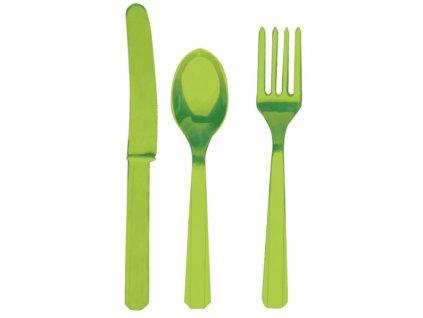 Příbor zelený pro 8 lidí