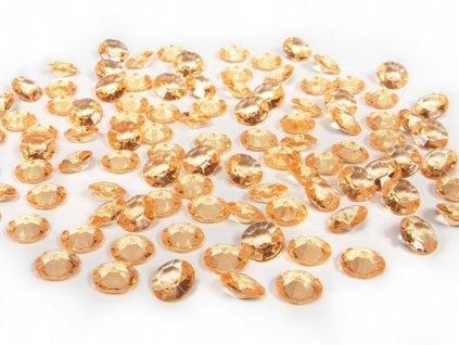 Diamantové konfety zlaté 12mm