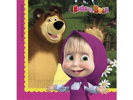 MASHA & THE BEAR NAPKIN ICON