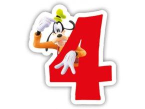 Narozeninová svíčka Mickey Mouse číslo 4