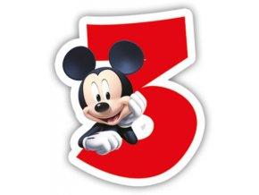 Narozeninová svíčka Mickey Mouse číslo 3