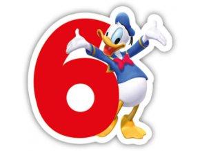 Narozeninová svíčka Mickey Mouse číslo 6
