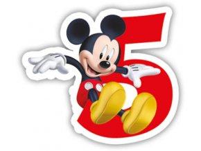 Narozeninová svíčka Mickey Mouse číslo 5